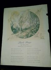 April Magic A.K. MacDonald Mathys Ross 1928 Magazine page Art Color FREE SHIP