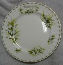 Royal Albert Flower of the Month January Green And White  Round Plate  1970