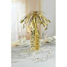 "19"" Happy New Year Gold Champagne Bottle Party Table Centerpiece Decoration"