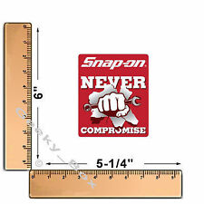 Snap On Tools Never Compromise Fist Toolbox Decal Sticker