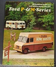 1963 Ford Parcel Delivery Van & Motor Home ChassisTruck Brochure Excellent Orig