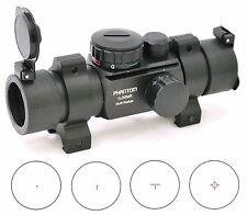 PHANTOM Reflex Multi Task Reticle Green Red Dot Scope Sight w/ Weaver Rings
