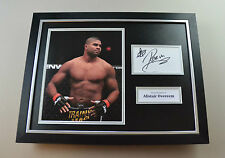 Alistair Overeem Signed Photo Framed 16x12 UFC Autograph Display Memorabilia COA