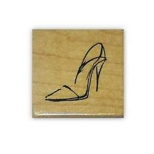 HIGH HEELED SHOE sketch, mounted rubber stamp #5