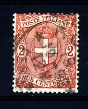 ITALIA - Regno - 1896 - Stemma di Savoia - 2 c. - Stemma sabaudo entro un ovale
