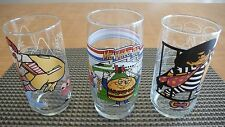 SET OF 3 Mc DONALD COLLECTIBLE DRINKING GLASSES