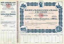 France Power Company Of Alsace & Lorraine stock certificate