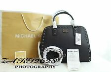 BNWT MICHAEL KORS LEATHER SAFFIANO STUD LARGE SATCHEL SHOULDER BAGS RRP £370