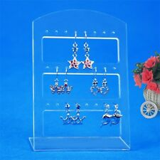 24 Holes Earring Jewelry Show Plastic Display Rack Stand Organizer Holder JL