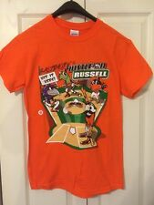 NATTY BOH T-SHIRT 'BALTIMORE'S HUSTLE ON RUSSELL' -MEN'S SZ SMALL-ORANGE -BR NE