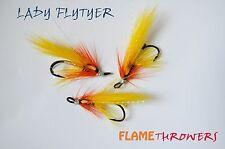 3x brand new FLAMETHROWERS size 8  salmon doubles ladyflytyer