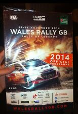 Wales rally gb officiel programme 2014