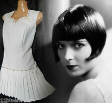 Vintage Bukta 80's Wimbledon Tennis Dress Gatsby 20's Flapper Downton 12 40 US 8