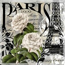 "Napkin/Luncheon - ""Paris 1900"" - A gorgeous, paper napkin with the Eiffel Tower"