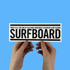 "Beyonce Lyric Sticker! ""Surfboard"" drunk in love, jay-z, knowles lemonade"