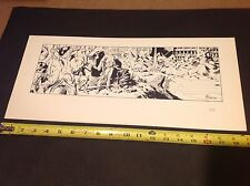 """AL WILLIAMSON FLASH GORDON SEQUENTIALLY NUMBERED LIMITED EDITION 8 1/2"""" x 19"""""""