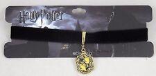 New Harry Potter Hufflepuff Charm Pendant Velvet Choker Necklace