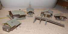 S56  Vollmer kleine Berghütten mit Kapelle Steg mit Bergsteiger aus Anlagenabbau