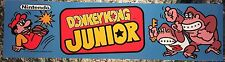 "Donkey Kong Jr Arcade Marquee 22.3"" x 5.8"""