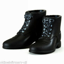 "Infirmary Exclusives WWII US Black Short Boots for 12"" Figures 1:6 Scale (g18)"