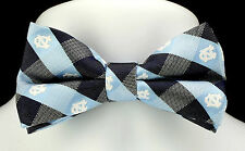 North Carolina Tarheels UNC Plaid Mens Bow Tie Adjustable College Bowtie New