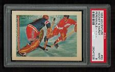 PSA 9 GORDIE HOWE & CHUCK RAYNER 1956 Adventure Gum Hockey Card and Photo