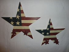 Home Interiors  Set of 2 - Wood Stars '' Wall Hooks /Accent