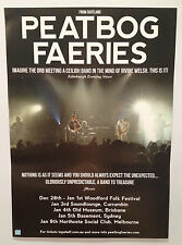 PEATBOG FAERIES 2013/2014 Australian Tour Poster A2 Dust Croftwork Woodford *NEW