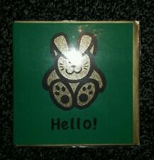 Quality modern sparkly glittered cute bunny rabbit  'Hello!' greeting card