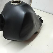 XT350 XT Yamaha oem fuel tank with petcock mounts and rubber pads DENT no leaks