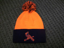 New St. Louis Cardinals Biggie Cuffed Ski Hat Winter Navy - Orange Brand New!