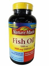Nature Made Fish Oil 1200mg Omega-3 Dietary Supplement - 200 Count Softgels
