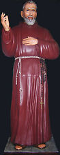 ST. JEROME STATUE 67 Inch - Cm. 170 Fiberglass EYES OF GLASS