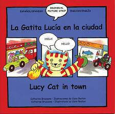 NEW - LUCY CAT IN TOWN (Lucie Chat En Ville ) SPANISH age 3+ TEXT SPEECH BUBBLES