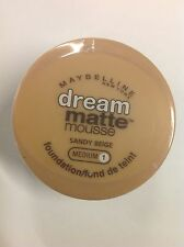 Maybelline Dream Matte Mousse Foundation SANDY BEIGE (MEDIUM-1) NEW.
