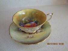 Paragon Artist Signed F.D. Hall Peach & Grape Cup & Saucer