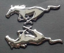 2 xMetal Chrome Running Horse Emblem Door Fender Badge Sticker For Ford Mustang