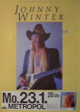 JOHNNY WINTER CONCERT TOUR POSTER 1989 THE WINTER OF