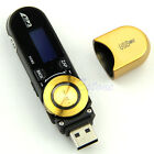 USB LCD Screen16GB Support Flash TF Player MP3 Music FM Radio +Earphone