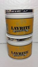 2 LAYRITE ORIGINAL HAIR POMADE MEDIUM HOLD MEDIUM SHINE NET WT 4 OZ EACH MADE IN