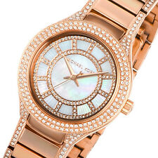 NEW MICHAEL KORS KERRY PAVE GLITZ ROSE GOLD PEARL MOP DIAL WOMEN'S WATCH MK3443