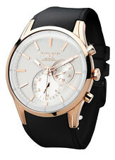 Jorg Gray JG5100-34 Mens Watch Multifunction White Striped Dial Rose Gold Case