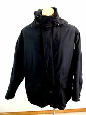 ANDREW MARC NEW YORK MENS BLACK MICROFIBER INSULATED HOODED JACKET SIZE L