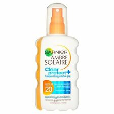 Garnier Ambre Solaire CLEAR Protect Spray SPF20 Medium 200ml Water Resistant