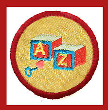 CARING FOR CHILDREN Girl Scout Red Worlds to Explore Badge NEW Multi=1 Ship Chrg