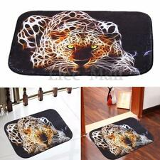 Cheetah Anti-Skid Bathroom Foot Pad Carpet Bedroom Rug Non-slip Toilet Door Mats