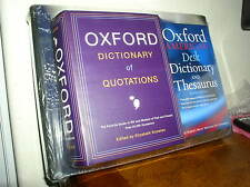 New Deluxe Reference Set: Atlas of the World, Oxford Dictionary & Quotations NEW