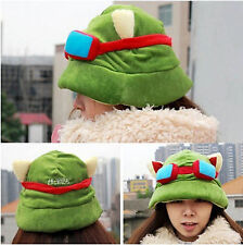 Hot Fashion Plush Suit Cool Cute Cosplay Green League of Legends LOL Teemo Hat