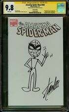 "AMAZING SPIDER-MAN 648 CGC 9.8 SS STAN ""THE MAN"" LEE FULL BODY SKETCH ART RARE"