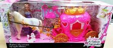 Barbie Prncess Style Carriage Horse fashion Accessories Colourful Play Toys